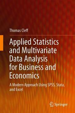 Cover of the book Applied Statistics and Multivariate Data Analysis for Business and Economics