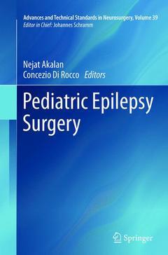 Couverture de l'ouvrage Pediatric Epilepsy Surgery