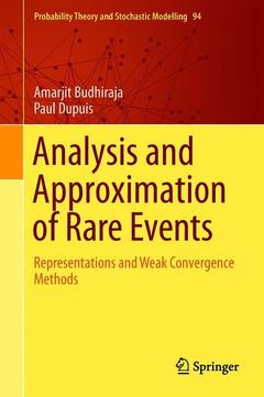 Cover of the book Analysis and Approximation of Rare Events