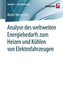 Couverture de l'ouvrage Analyse des weltweiten Energiebedarfs zum Heizen und Kühlen von Elektrofahrzeugen