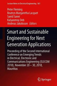 Couverture de l'ouvrage Smart and Sustainable Engineering for Next Generation Applications