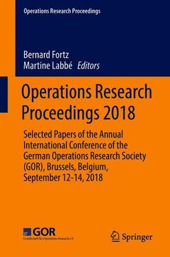 Couverture de l'ouvrage Operations Research Proceedings 2018