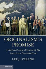 Cover of the book Originalism's Promise
