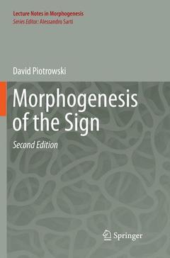 Couverture de l'ouvrage Morphogenesis of the Sign