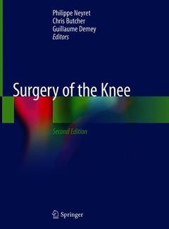 Couverture de l'ouvrage Surgery of the Knee