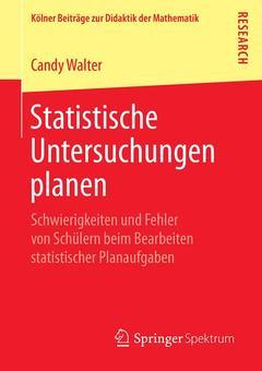 Couverture de l'ouvrage Statistische Untersuchungen planen