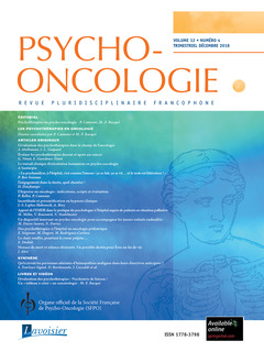 Couverture de l'ouvrage Psycho-Oncologie Vol. 12 N° 4 - Décembre 2018