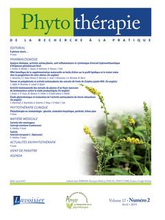 Couverture de l'ouvrage Phytothérapie. Vol. 17 N° 2 - Avril 2019
