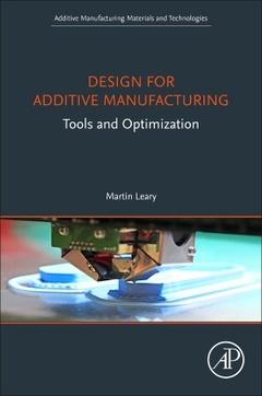 Couverture de l'ouvrage Design for Additive Manufacturing
