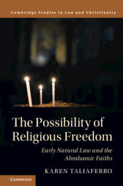 Couverture de l'ouvrage The Possibility of Religious Freedom