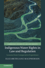 Couverture de l'ouvrage Indigenous Water Rights in Law and Regulation
