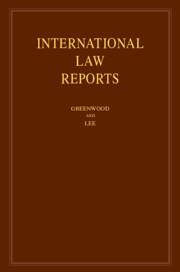 Couverture de l'ouvrage International Law Reports: Volume 184