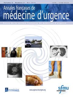 Couverture de l'ouvrage Annales françaises de médecine d'urgence Vol. 9 n° 3 - Mai 2019