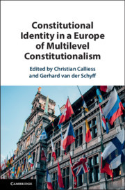 Couverture de l'ouvrage Constitutional Identity in a Europe of Multilevel Constitutionalism