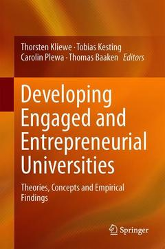 Couverture de l'ouvrage Developing Engaged and Entrepreneurial Universities