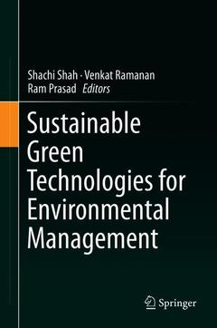 Cover of the book Sustainable Green Technologies for Environmental Management