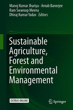 Cover of the book Sustainable Agriculture, Forest and Environmental Management