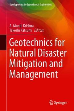 Couverture de l'ouvrage Geotechnics for Natural Disaster Mitigation and Management