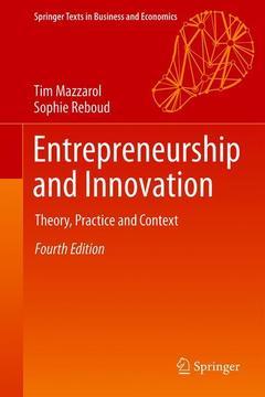 Couverture de l'ouvrage Entrepreneurship and Innovation