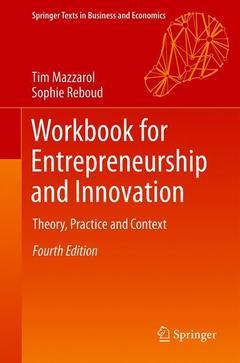 Couverture de l'ouvrage Workbook for Entrepreneurship and Innovation