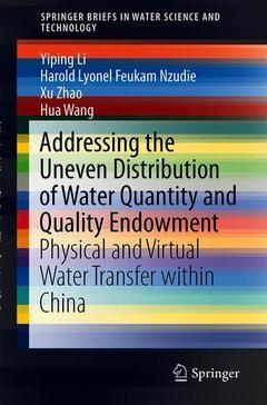 Cover of the book Addressing the Uneven Distribution of Water Quantity and Quality Endowment