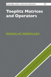 Couverture de l'ouvrage Toeplitz Matrices and Operators