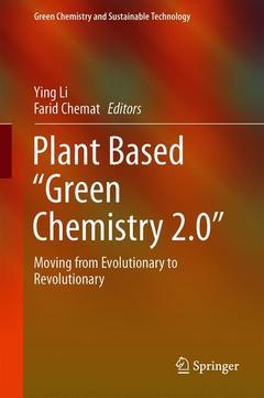"Couverture de l'ouvrage Plant Based ""Green Chemistry 2.0"""