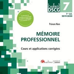Couverture de l'ouvrage Dscg 7 - memoire professionnel