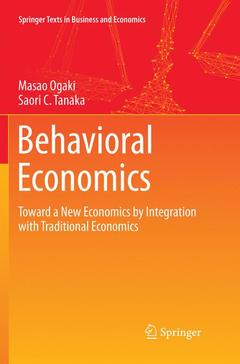 Couverture de l'ouvrage Behavioral Economics