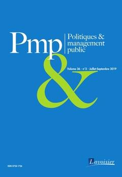 Couverture de l'ouvrage Politiques & management public Volume 36 N° 3 - Juillet-Septembre 2019