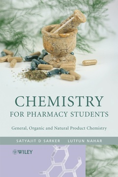Couverture de l'ouvrage Chemistry for pharmacy students: General organic & natural products chemistry