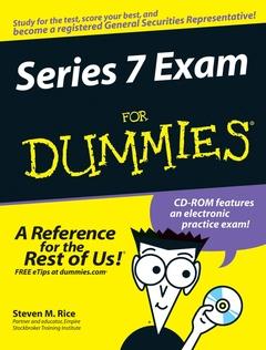 Couverture de l'ouvrage Series 7 exam for dummies w/cd