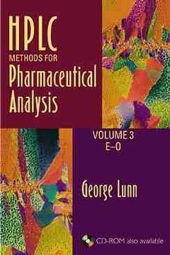 Couverture de l'ouvrage HPLC methods for pharmaceutical analysis vol 3