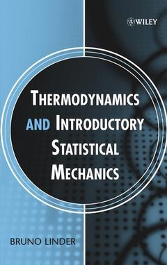 Couverture de l'ouvrage Thermodynamics & introductory statistical mechanics