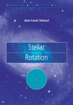 Couverture de l'ouvrage Stellar rotation (Astrophysics, N°36)