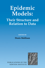 Couverture de l'ouvrage Epidemic models: their structure & relation to data (Publications of the Newton institute, N° 5)