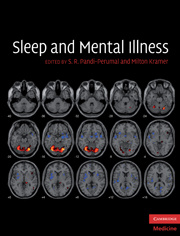 Couverture de l'ouvrage Sleep and mental illness