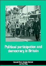 Couverture de l'ouvrage Political participation and democracy in britain
