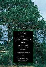 Couverture de l'ouvrage Flora of great britain and ireland volume 1 lycopodaceae - salicaceae