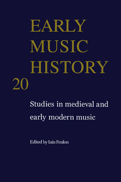 Couverture de l'ouvrage Early music history volume 20