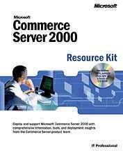 Couverture de l'ouvrage Microsoft commerce server 2000 resource Kit (avec CD-ROM)