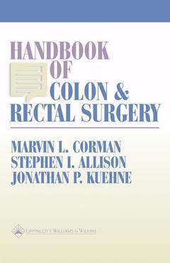 Couverture de l'ouvrage Handbook of colon & rectal surgery