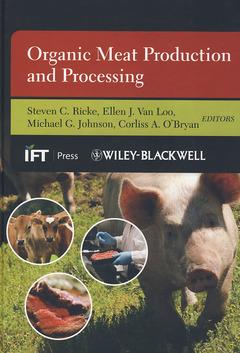 Couverture de l'ouvrage Organic meat production and processing