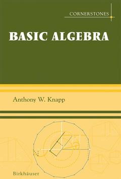 Cover of the book Basic algebra