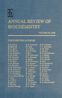 Couverture de l'ouvrage Annual review of biochemistry volume 69 (2000)