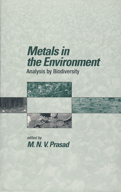 Couverture de l'ouvrage Metals in the environment, analysis by biodiversity
