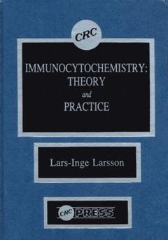 Couverture de l'ouvrage Immunocytochemistry :theory and practice