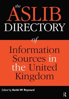 Cover of the book The ASLIB directory of information sources in the United Kingdom, 11° ed.