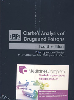 Cover of the book Clarke's analysis of drugs and poisons (2 Volumes)