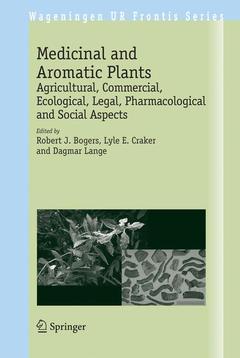 Couverture de l'ouvrage Medicinal and aromatic plants